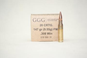 308WIN GGG FMJ 147GR